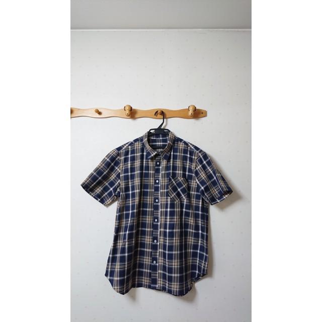 メンズ半袖4Lシャツ~紺~