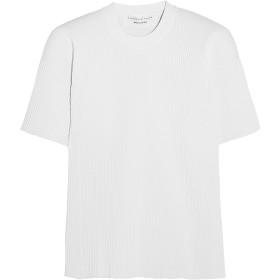 《期間限定セール開催中!》VICTORIA BECKHAM レディース T シャツ ホワイト 2 レーヨン 78% / ポリエステル 16% / ナイロン 5% / ポリウレタン 1%