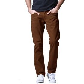 Matchstick(マッチスティック)チノパン メンズ 大きいサイズ ストレート スリム カラーパンツ ビジネス カジュアル ズボン#8032, 2XL/36)
