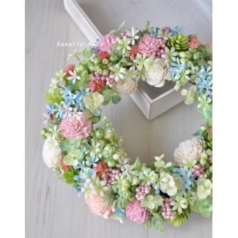 fairy flower ring:ピンクカーネーションのリース