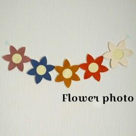 写真入れ お花 ガーランド
