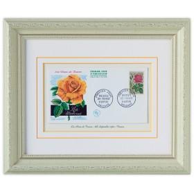 フランスの薔薇の切手額(モダンローズ)