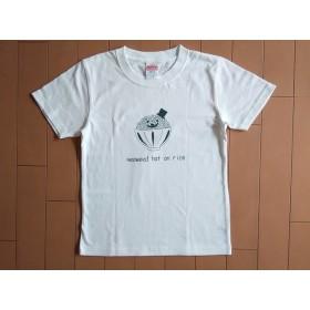 焼き海苔ハットのごはんさんTシャツ キッズ