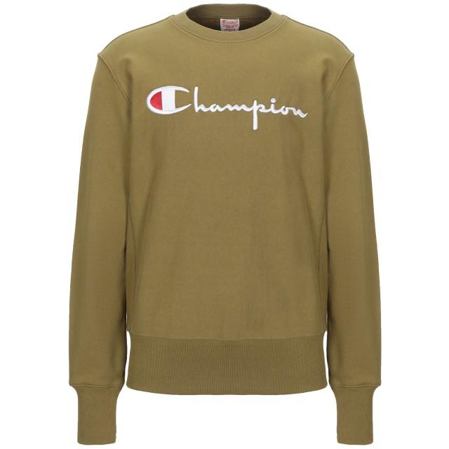《期間限定セール開催中!》CHAMPION メンズ スウェットシャツ ミリタリーグリーン M コットン 86% / ポリエステル 14%