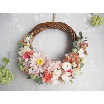 【ミンネ限定SALE】 Lune Bonheur natural antique*野原のボタニカルハーフリース*プリザーブドフラワー・お花*ギフト*母の日*母の日のおくりもの特集