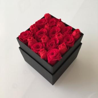 ★Rose Box★プリザーブドフラワーボックス★ローズボックスレッドSサイズ