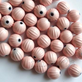 20個●12ミリ アクリルビーズ かぼちゃビーズ ピンク
