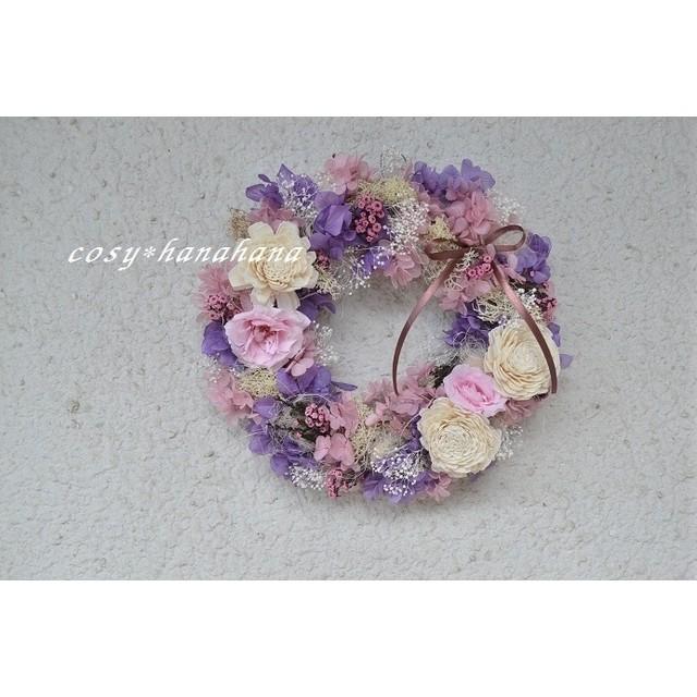 ミスティピンクのthanks wreath