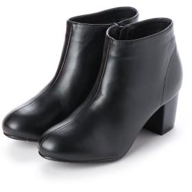 マフモフ Mafmof Realta(レアルタ) シンプルなショートブーツ (ブラック・PU)