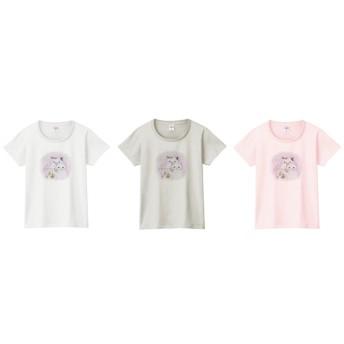フルート猫2匹のTシャツ
