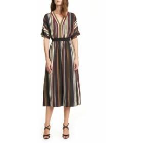 テッドベーカー レディース ワンピース トップス Ted Baker London Safiiya Stripe Short Sleeve Dress Black