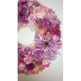 紫陽花色のリース
