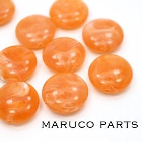 マーブル天然石調*フラットラウンド*10個*オレンジ*両穴*ヴィンテージ風◎*beads-285
