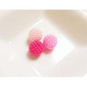 【ピンク系】 つぶつぶパール 10個