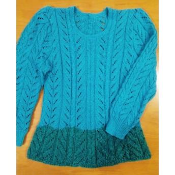 麻+綿の長袖セーター