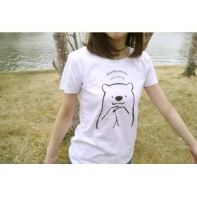 手もじもじシロクマTシャツ (Lサイズ)