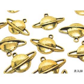 土星のチャーム ゴールド 20個【宇宙銀河 惑星パーツ】