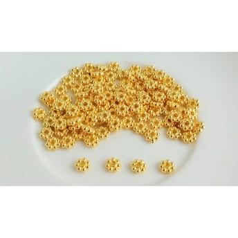 フラワースペーサー約80個♪ゴールドカラー(金色)