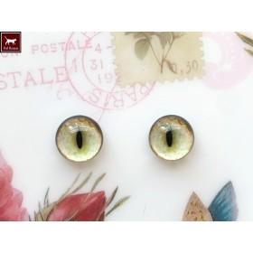 猫目グラスアイ 14ミリ Y07-14