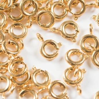 (ss-00138)サージカルステンレス 316L 引き輪 ゴールド 6mm 20個 ステンレス パーツ 金属アレルギー対策 アクセサリーパーツ