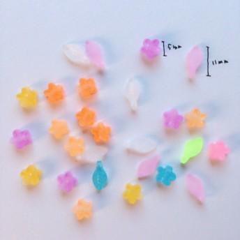 《送料無料》お花ビーズ【5mm17ピース 11mm10ピース】