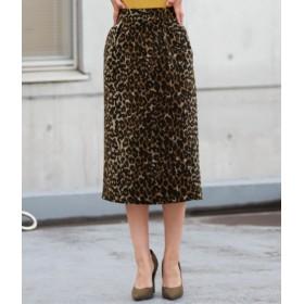 ANAP(アナップ)/微シャギーヒョウ柄ジャガードタイトスカート