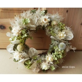 atelier blugra八ヶ岳〜ルナリアとスモークツリーのWreath