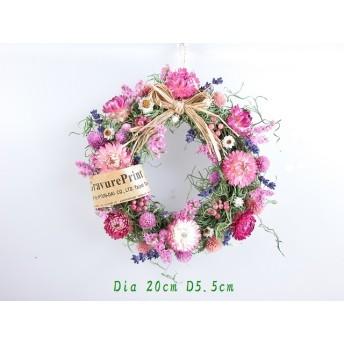モスリース にピンク系の小花達