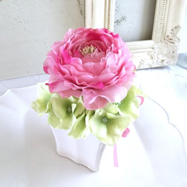 sale ピンク ラナンキュラス フラワーアレンジメント フラワーギフト アーティフィシャルフラワー 誕生日プレゼント