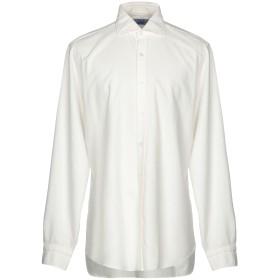 《セール開催中》DANDYLIFE by BARBA メンズ シャツ ホワイト 43 コットン 100%