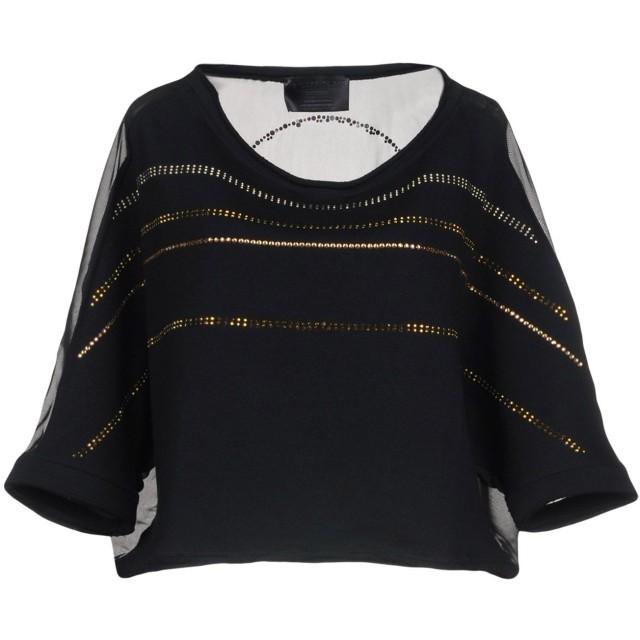 《セール開催中》PHILIPP PLEIN レディース スウェットシャツ ブラック XS コットン 100% / ポリエステル