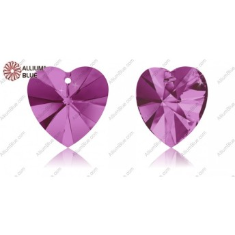 【スワロフスキー#6228】2粒 XILION Heart ペンダント 14.4x14mm フューシャ (502)