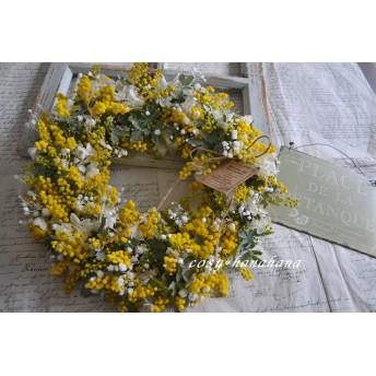 ミモザとかすみ草wreath