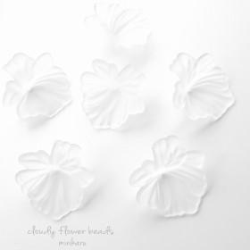 ️6pcs)cloudy flower beads