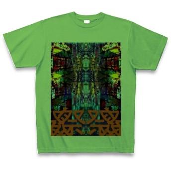 マツリ◆アート文字◆ロゴ◆ヘビーウェイト◆半袖◆Tシャツ◆ブライトグリーン◆各サイズ選択可