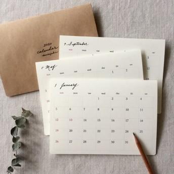月曜始まりOK*シンプルなカレンダー2020 始まり月自由