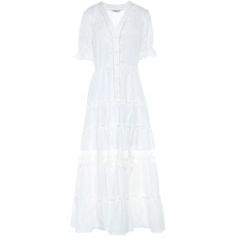 《セール開催中》TENAX レディース ロングワンピース&ドレス ホワイト 42 コットン 100%