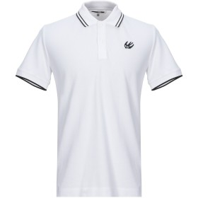 《セール開催中》McQ Alexander McQueen メンズ ポロシャツ ホワイト M コットン 100% / ポリウレタン
