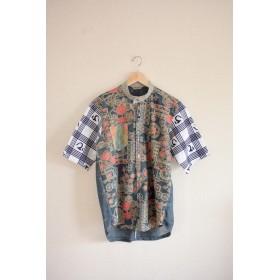メンズ 柄のキモノと2types浴衣のオシャレcasual shirt (no.177)