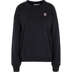 《セール開催中》FILA HERITAGE レディース スウェットシャツ ブラック XS コットン 65% / ポリエステル 35% SUZANNA crew sweat