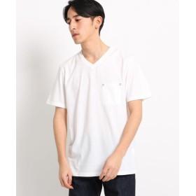【52%OFF】 ザ ショップ ティーケー VネックTシャツ メンズ オフホワイト(003) 01(S) 【THE SHOP TK】 【タイムセール開催中】
