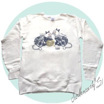 【歯車×アニマル】cat/S(ホワイト)【スウェット】