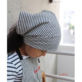 キッズエプロン【モノトーンハート】三角巾つき