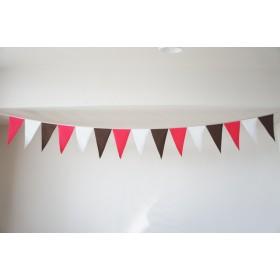 布ガーランドフラッグ 旗 キャンプ・パーティ 店舗装飾 ピンクブラウン