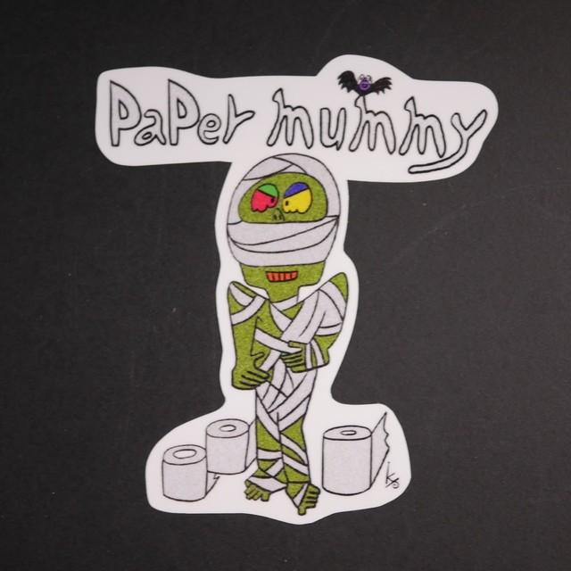 中くらいのステッカー『Paper mummy』