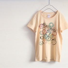スタンプだらけのカラフルTシャツ(ナチュラル)