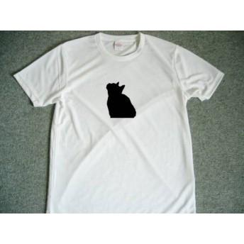 クロネコ ドライTシャツ 猫 シルエット