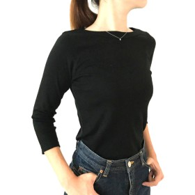 【7分袖用】形にこだわった 大人のボートネックTシャツ【色・サイズ展開有】