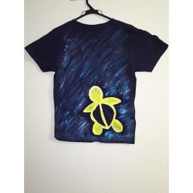 2300円→1500円手描きTシャツ woman Lネイビー