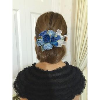 アンティークブルーローズのヘッドドレス